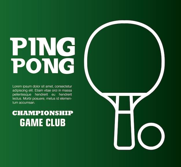 Ping pong sport emblem symbol