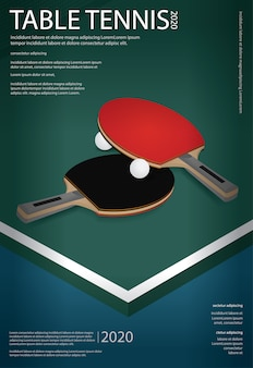 Pingpong poster vorlage