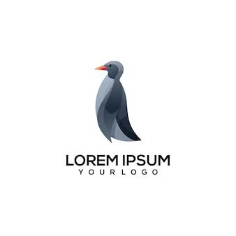 Pinguin-logo einfache illustration