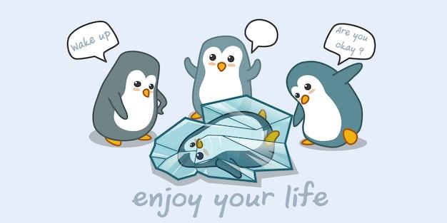 Pinguin und freunde.