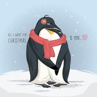 Pinguine lieben weihnachten
