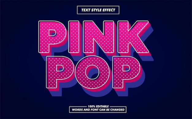 Pink pop text style effekt