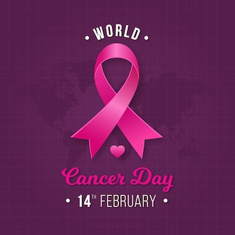 Pink ribbon cancer day