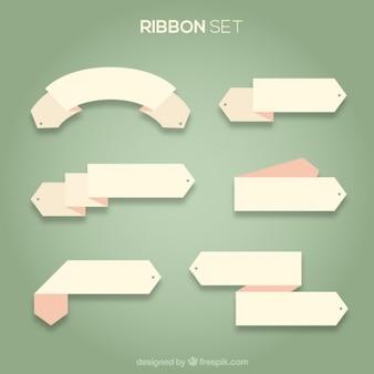 Pink ribbon set