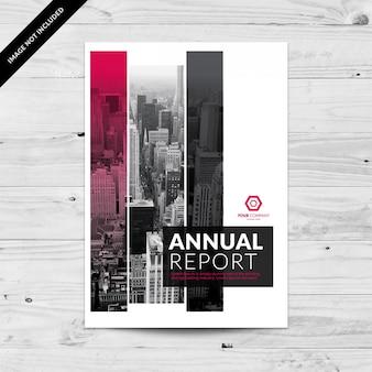 Pink und grau cityview jahresbericht design vorlage mit rechtecken