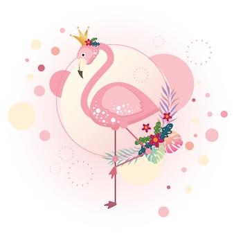 Pinkfarbener flamingo