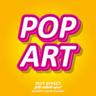 Pinky pop-art 3d-textart