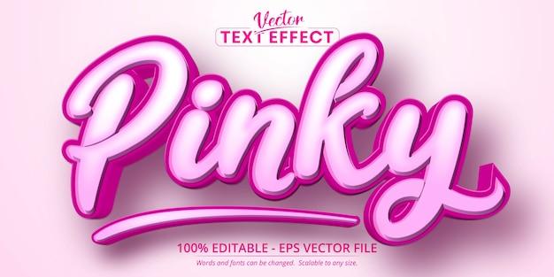 Pinky text, bearbeitbarer texteffekt im cartoon-stil