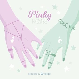 Pinky versprechen hintergrund