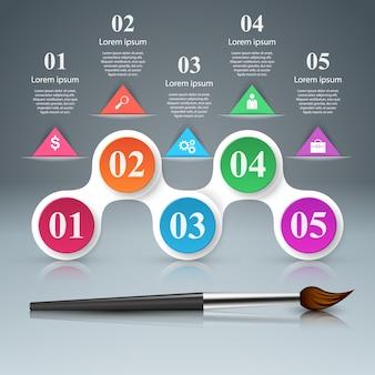 Pinsel künstler infografik