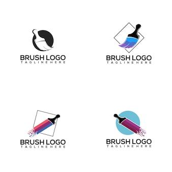 Pinsel-logo-sammlung