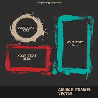 Pinsel splatter frames vectror
