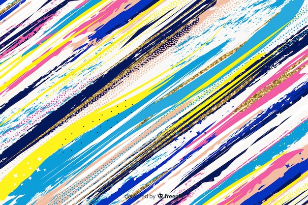 Pinsel streicht abstrakte hintergrundart