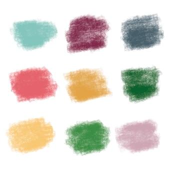 Pinsel strich texturen in lebendigen farben