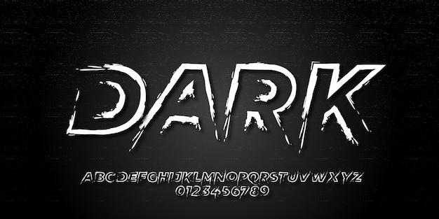 Pinsel text effekt grunge retro-stil