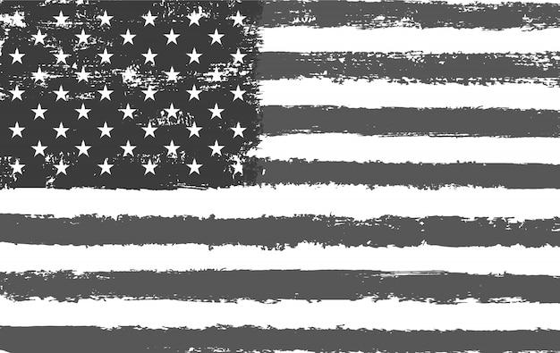 Pinselstrich amerikanische flagge