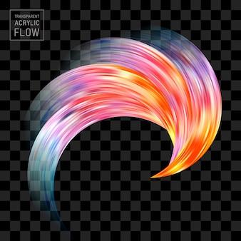 Pinselstrich der realistischen welle der farbe.