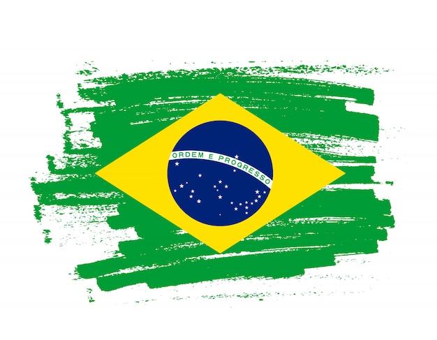 Pinselstrich flagge brasiliens
