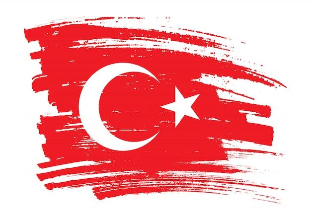 Pinselstrich flagge der türkei