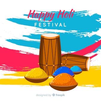 Pinselstrich holi festival hintergrund