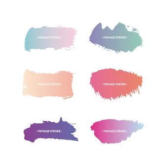 Pinselstrich mit farbverlauf