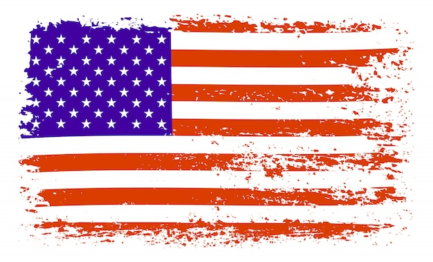 Pinselstrich usa flagge