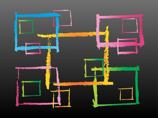Pinselstriche geometrischen quadrate