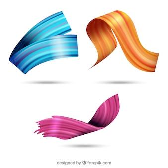 Pinselstriche sammlung mit farben