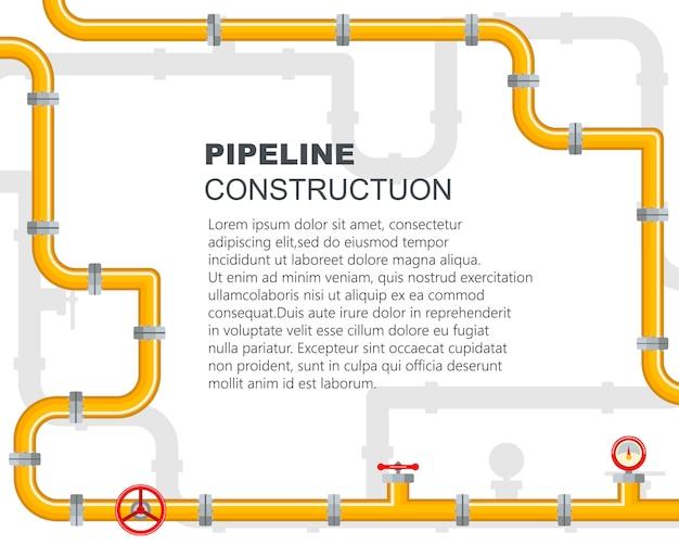 Pipeline industriell. der hebel öffnet oder schließt das ventil.