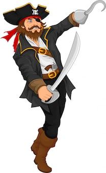 Pirat hält schwert