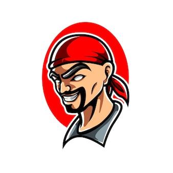 Piraten e sport maskottchen logo