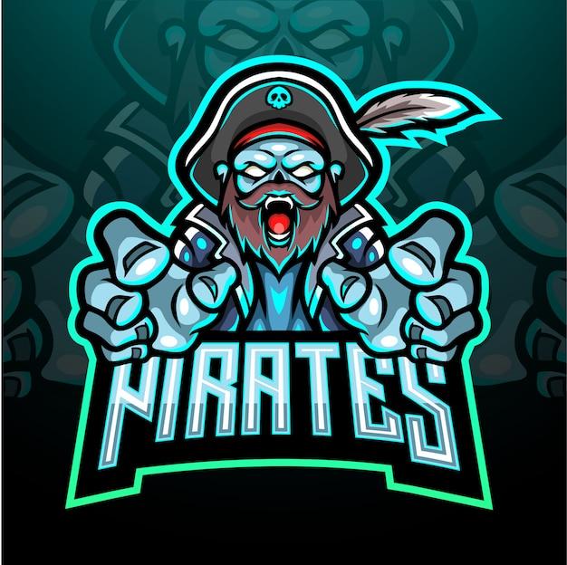 Piraten esport logo maskottchen design