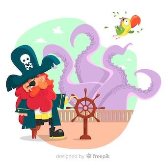 Piraten-hintergrund