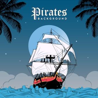 Piraten hintergrund