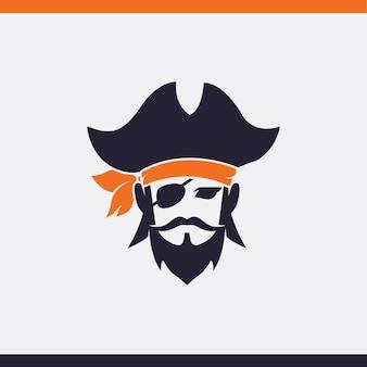 Piraten kopf symbol