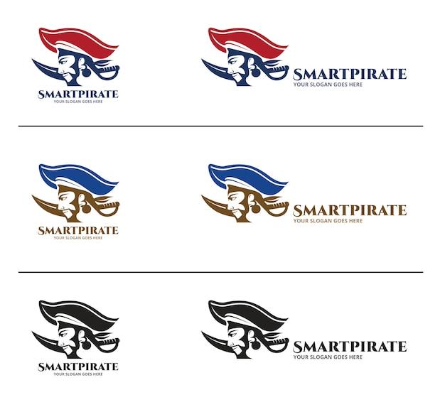 Piraten-logo-design-vorlage