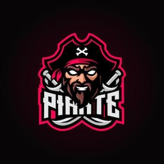Piraten-maskottchen-esport-logo
