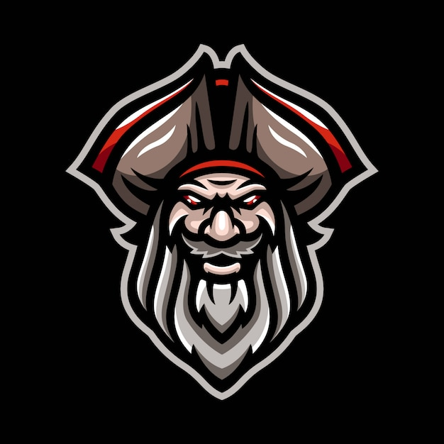 Piraten-maskottchen-logo