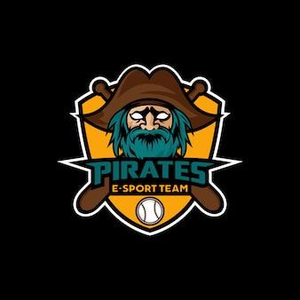Piraten-maskottchen-sport esport logo design