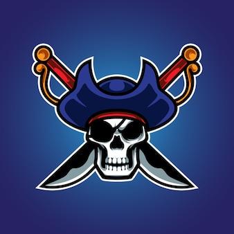 Piraten schädel e sport logo
