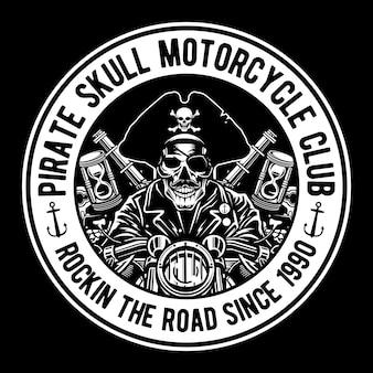 Piraten-schädel-motorclub