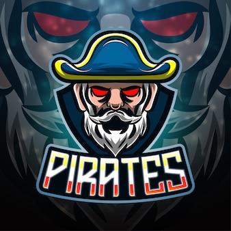 Piraten sport maskottchen logo design