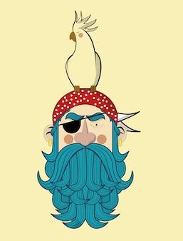 Piratengesicht