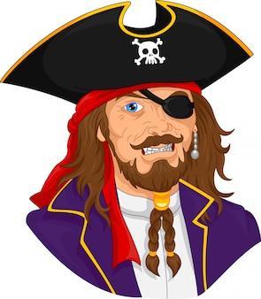 Piratenmann maskottchen