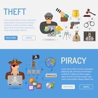Piraterie und diebstahl banner
