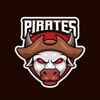 Pirates cow esport logo design für das beste team