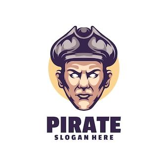 Pirates logo ist ein sauberes und elegantes professionelles logo für unternehmen oder privatpersonen