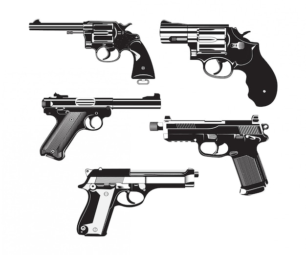 Pistole lokalisiertes weinlese-hoch einzeln aufgeführt