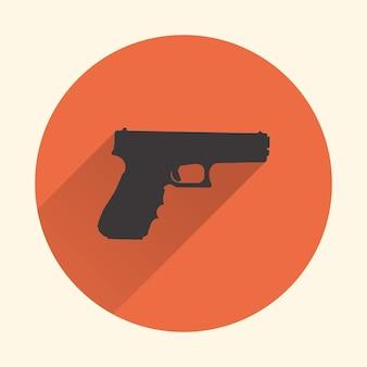 Pistole symbol abbildung. kreatives und retro-image