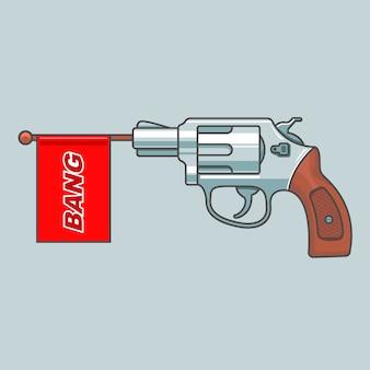 Pistolenrevolver schießt